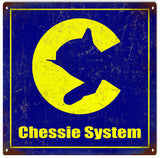 Vintage Chessie System Railroad Sign 12x12