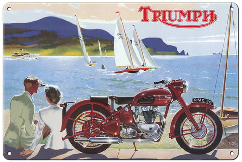 RG115B Triumph Classic British Motorcycle Sign