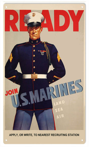 Join US Marines Sign 8x14