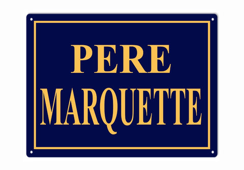 Pere Marquette Railroad Sign 9x12