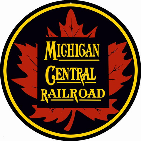 Michigan Central Railroad Sign 14 Round