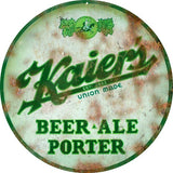 Vintage Kaiers Beer Sign 14 Round