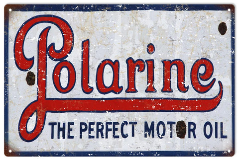 Vintage Polarine Motor Oil Sign
