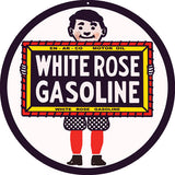 White Rose Gasoline Sign 14 Round