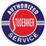 Authorized Studebaker Service Sign 18 Round
