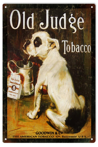 Vintage Old Judge Tobacco Sign