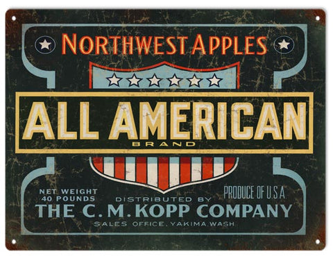 Vintage Northwest Apples Sign