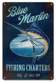 Blue Marlins Fishing Charters Sign