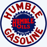 Humble Gasoline Sign 14 Round