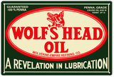 Wolfs Head Oil Sign
