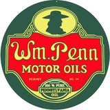 WM Penn Motor Oil Sign 14 Round