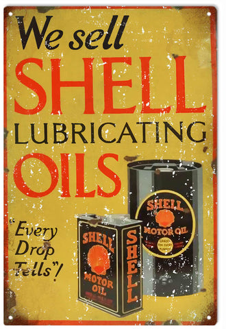 Vintage Shell Oils Sign