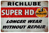 Vintage Richlube Super HD Sign