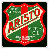 Aristo Motor Oil Sign 12x12