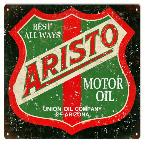 Vintage Aristo Motor Oil Sign 12x12
