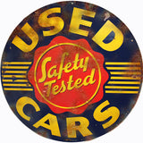 Vintage Used Cars Sign 14 Round