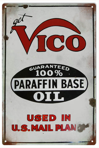 Vintage Vico Oil Sign