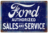 Vintage Ford Sales And Service Sign