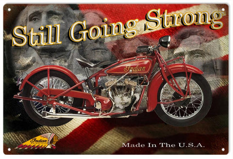 Vintage Indian Presidential Motorcycle Sign