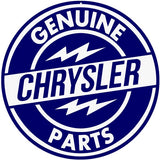 Chrysler Parts Sign 18 Round