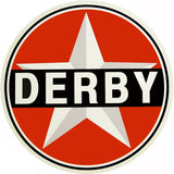 Derby Gasoline Sign 18 Round