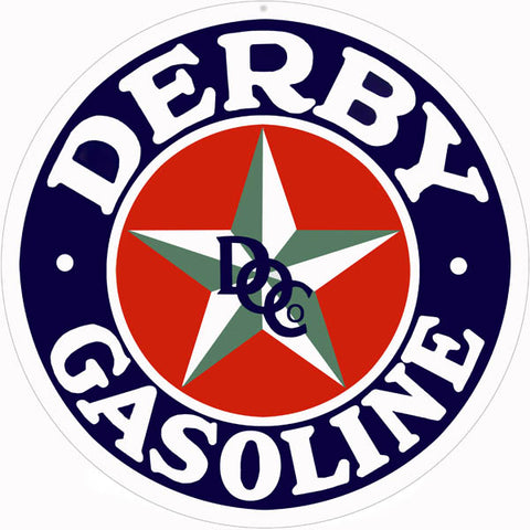 Derby Gasoline Sign 14 Round