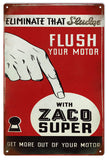 Vintage Zaco Super Motor Oil Sign