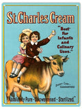 St.Charles Cream Sign 9x12