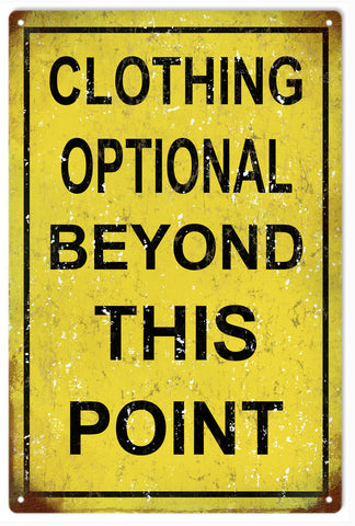 Vintage Clothing Optional Sign