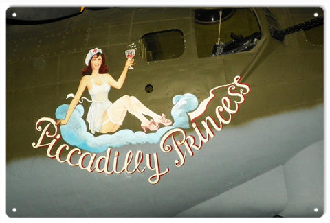Vintage Nose Art Piccadilly Princess Sign