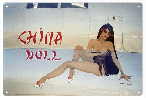 Timeless Nose Art China Doll Sign