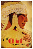 Vintage The Chief Santa Fe Sign