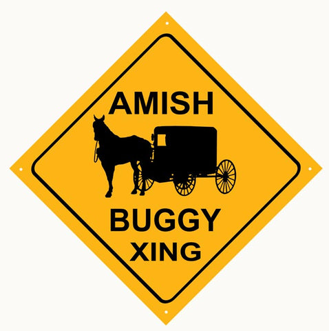 Amish Buggy Xing Sign 12x12
