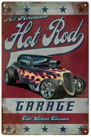 Hot Rod Garage Sign Garage Art 16x24