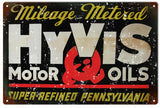 Vintage Hyvis Motor Oil Sign