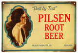 Vintage Pilsen Root Beer Sign