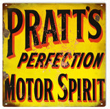 Vintage Pratts Motor Oil Sign 12x12