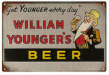 Vintage Williams Younger Beer Sign