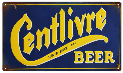 Vintage Centlivre Beer Sign 8x14