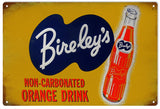 Vintage Bireleys Orange Drink Sign