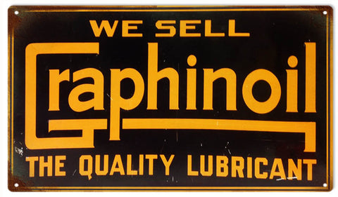 Vintage Graphinoil Sign 8x14
