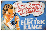 Vintage Electric Range Sign