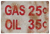 Vintage Gas And Oil Sign