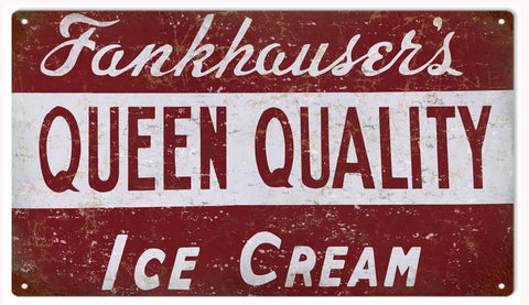 Vintage Fankhausers Ice cream sign 8x14