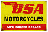 Vintage BSA Motorcycle Sign