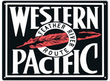 Western Pacific Railroad Sign 9x12