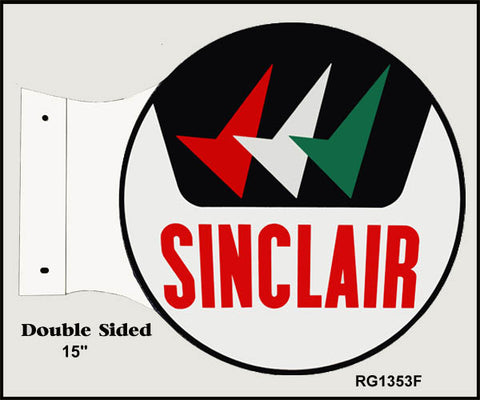 Sinclair Motor Oil Flange Sign 15x171/2