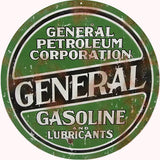 Vintage General Petroleum Sign 14 Round