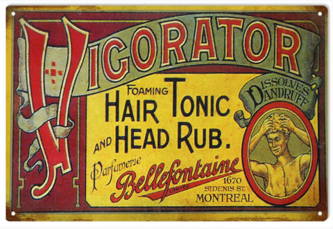Vintage Vigorator Head Rub Sign