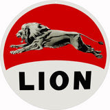 Lion Motor Oil Sign 18 Round